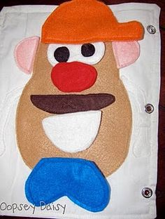quiet book idea-mr. potato head (and lots others on this site!)