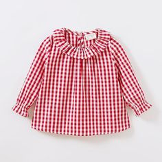 Made with the finest cotton available, this cute summer blouse is perfect for the summer time. Dance Outfits, Girl Outfits, Valentines Outfits, Plaid Outfits, Girls Blouse, Summer Blouses, Spring Outfits, Spring Clothes, Summer Baby