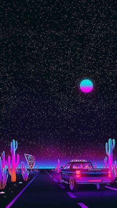 Vaporwave night sky by Agathe Marcellin Tumblr Wallpaper, Trippy Wallpaper, Neon Wallpaper, Iphone Background Wallpaper, Aesthetic Pastel Wallpaper, Cellphone Wallpaper, Aesthetic Wallpapers, Iphone Wallpaper Night Sky, Retro Wallpaper Iphone