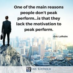 Take responsibility for your peak peformance starting today!