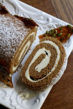 Spiced Pumpkin Roulade with White Chocolate & Mascarpone | Korena in the Kitchen