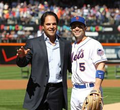 Mike Piazza induction ceremony into New York Mets Hall of Fame - Photo Gallery - NJ.com  Pictured with David Wright! =)