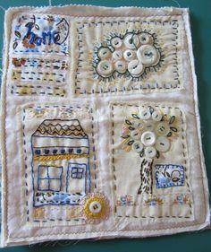 Little Neighborhood Button Quilt by gatheringdust on Etsy, $38.00