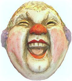 Circus Clown Handmade Masquerade Mask by VenetianArtiquity