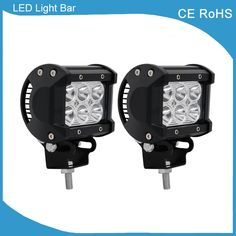 2 pieces Hot selling brightness 4inch double rows 1260lm 18w offroad led light bar for 10-20V DC ATV SUV Tractor and Trailers