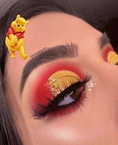 Winnie the Pooh makeup look from Featuring: twilight & dusk pal. Makeup Eye Looks, Eye Makeup Art, Colorful Eye Makeup, Pretty Makeup, Eyeshadow Makeup, Contouring Makeup, Face Makeup, Highlighting Contouring, Disney Eye Makeup