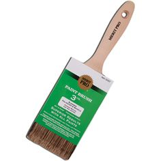 """MERIT PRO 00053 1"""" POLYESTER & BRISTLE BLEND BEAVERTAIL BRUSH  