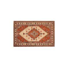 Pottery Barn Sahara Persian Style Rug, 2.5X9 Feet, Orange Multi ($349) ❤ liked on Polyvore featuring home, rugs, pottery barn area rugs, persian area rugs, patterned rugs, orange rug and pottery barn rug pad