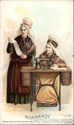 "Singer Trade Card ""Normandy"" c. 1894"