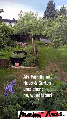 Loslassen und Haus mit Garten umziehen als Familie, na wunderbar! Garden Pool, Home Depot, Diy Fashion, Stepping Stones, Outdoor Decor, Plants, Urban Gardening, Entourage, Tricks