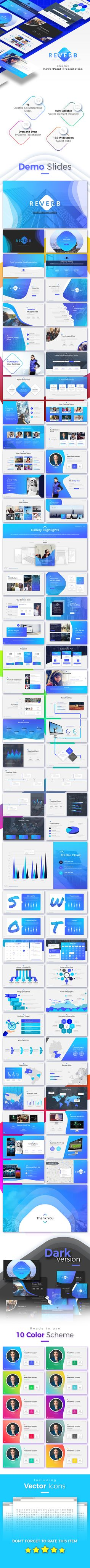 23 best business presentation templates images on pinterest reverb business presentation template is a creative presentation that is beautifully designed and functional flashek Images