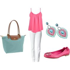 Pink,Turquoise,White... Oh how cute is this