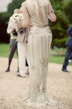 Joy dress by Jenny Packham (back view) Wedding Trends, Wedding Styles, Wedding Ideas, Wedding Details, Wedding Stuff, Hollywood Glamour Wedding, Jenny Packham Dresses, British Wedding, Lauren