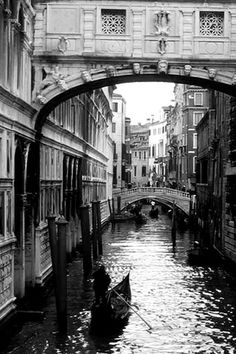 Venice Canal Romance and Mystery in Black and White by moonjazz, via Flickr