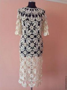 Купить Платье Парижанка ( молочного цвета).Продано. - белый, платье вязаное, Платье нарядное