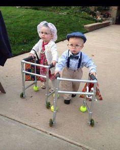 Grandma and grandpa toddler costume