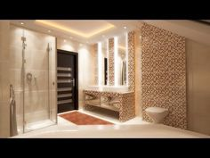 Bathroom interior design styling with modern LED ceiling lights Film 3D HD - http://news.gardencentreshopping.co.uk/garden-furniture/bathroom-interior-design-styling-with-modern-led-ceiling-lights-film-3d-hd/