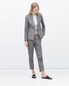 Image 1 of LINEN BLAZER from Zara