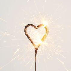 1 bougie étincelle - Coeur doré