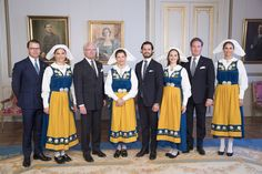 The Royal Family of Sweden pose for the National Day of Sweden on 6 June 2017.