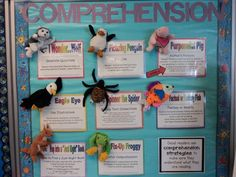 using beanie babies to teach/reinforce comprehension skills.  My siste just gave me all of them....well I had to make up some others to fit the skill, but so excited to come back from matenity leave and use them! AS