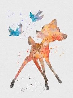 Bambi watercolor