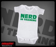 Nerd in Training Onesie Geek Humor