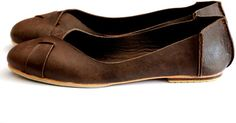NATIVE. Leather flats womens shoes rustic sizes 35-43. Available in different leather colors.