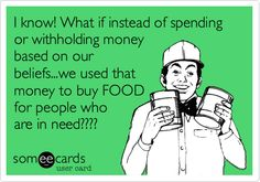 Support your local food bank instead!