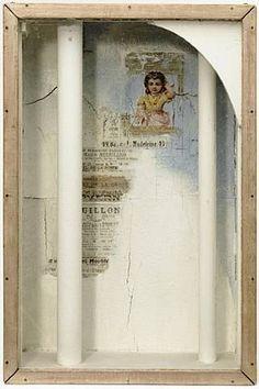 Joseph Cornell - girl and two columns - 1950