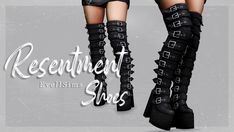 Resentment Shoes | EvellSims on Patreon The Sims 4 Skin, The Sims 4 Pc, Sims 4 Mm, Sims 4 Mods Clothes, Sims 4 Clothing, Sims Mods, Sims 4 Couple Poses, Couple Posing, Sims Challenge
