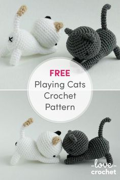 Download FREE cat pattern here on my amigurumi patterns page: http://www.lovecrochet.com/independent-designers/?designer_name=43741&a_aid=de0aeb25 ❤️ #littlebearcrochets #amigurumi