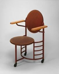 Designed by Frank Lloyd Wright.  Made by Steelcase, Inc. 1912.