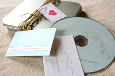 tin dvd holder and disc design for Kimberly Chau Photography