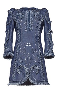 Long Sleeve Studded Dress by ANDREW GN for Preorder on Moda Operandi