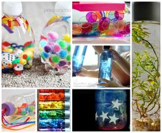 25 Brilliant Discover & Sensory Bottles - Discover, Explore, Learn, Relax - from simple to intricate