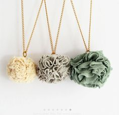 scrap necklace, make one in every color  to match your wardrobe!