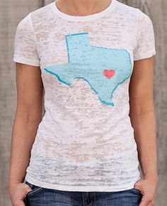 Part of the State of Mine Collect from TSJG  Texas Burnout Crew Neck TShirt