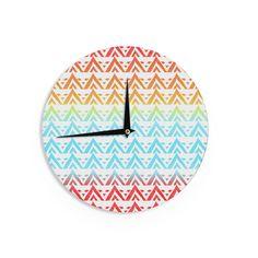 "Frederic Levy-Hadida ""Antilops Pattern"" Multicolor Chevron Wall Clock"