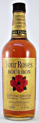 Four Roses 6 year old 1960s Bourbon Whiskey 70 Proof 26 2/3 fl.oz