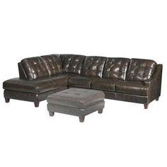 Mercer 2 Piece Left Chaise Leather Sectional   Nebraska Furniture Mart  sc 1 st  Pinterest : nebraska furniture mart sectionals - Sectionals, Sofas & Couches
