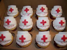 Plumeria Cake Studio: Nursing School Grad Cupcakes