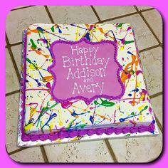 Paint splatter cake :)