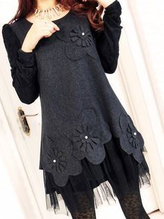 Women' Round Neck  Floral Casual-dress Casual Dresses from fashionmia.com