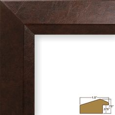 Amazon.com - Craig Frames 17096 8 by 10-Inch Picture Frame, Lightly Textured Finish, 1.5-Inch Wide, Brown Executive Leather - Prints