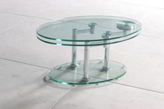 This is a Tempered Glass Oval Coffee Table with the ability to swing around; opening its second layer. A unique modern design coffee table that can be both compact and generous in size. Metal Coffee Table, Walnut Timber, Side Table, Coffee Table Design, Modern Design, Table, Glass Table, Console Table, Glass