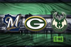 Wisconsin Sports Poster, Green Bay Packers, Milwaukee Brewers, Milwauk                      – McQDesign