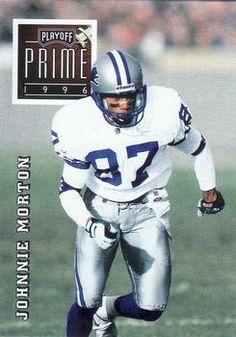 1996 Playoff Prime #113 Johnnie Morton - Detroit Lions.