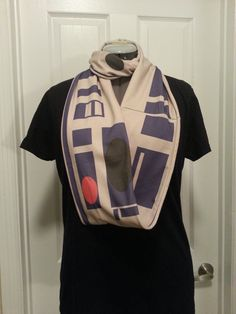 R2D2 inspired Infinity scarf - made to order