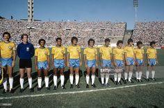 4th January 1981, Copa de Ora in Montevideo, Brazil 1 v Argentina 1, Brazil team group, Players only: not in order, Carlos, Edevaldo, Luizinho, Junior, Batista, Toninho Cerezo, Renato, Tita, Socrates, Ze Sergio